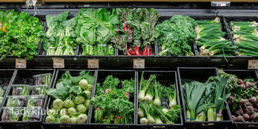 Зеленые овощи для очистки организма