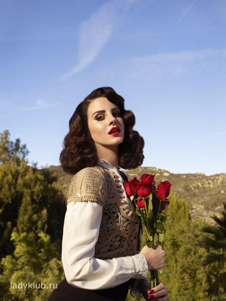 Лана Дель Рей с розами фото 68