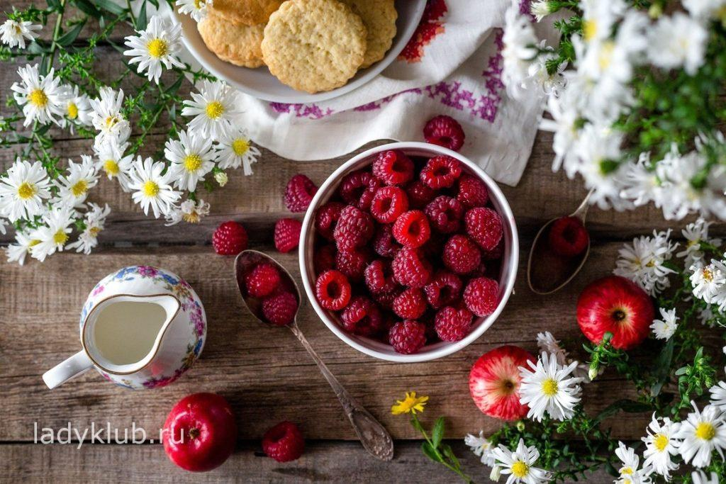 Калорийность и пищевая ценность малины